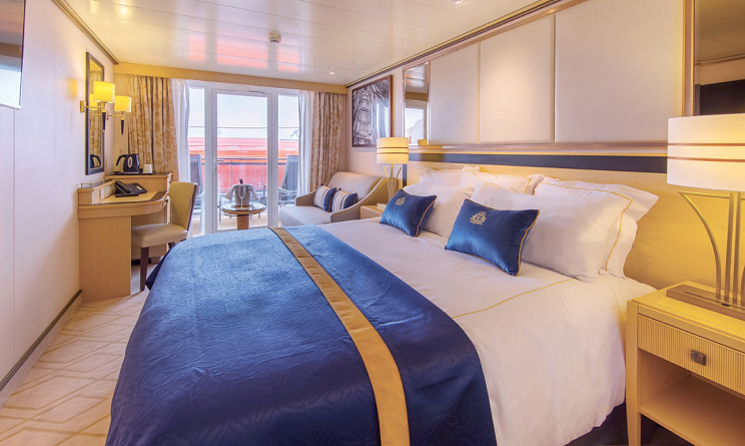 Cabina cu balcon Vas Queen Mary 2